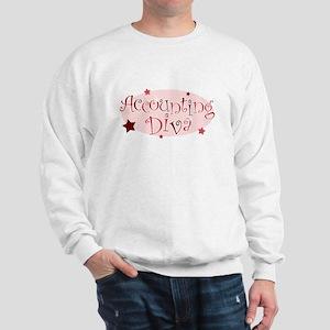 """""""Accounting Diva"""" [red] Sweatshirt"""